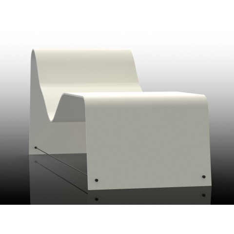 Chaise longue in Corian