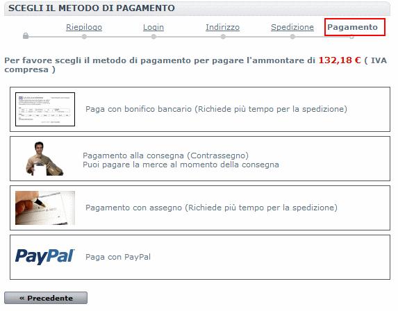 promozione 10 € - pagamento